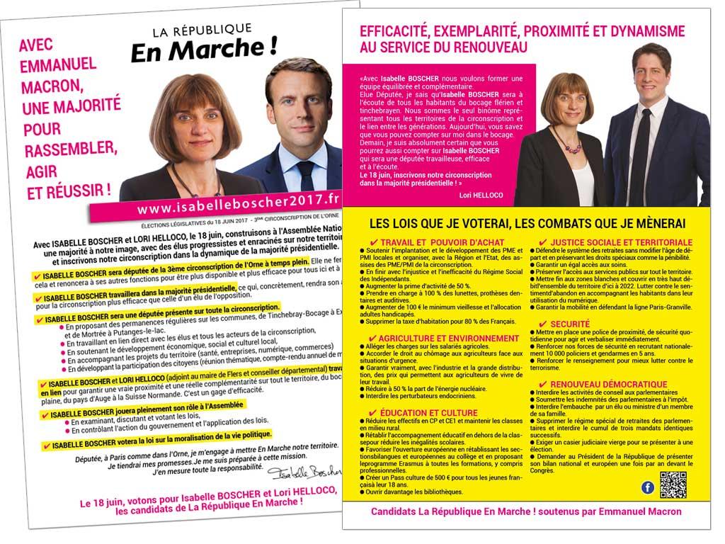 Tract Isabelle Boscher Législatives 2017