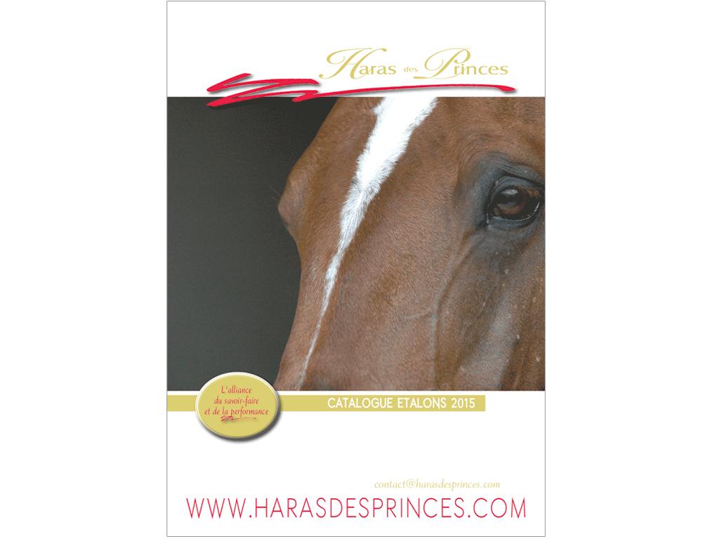 Couverture Brochure étalons Haras des Princes 2015