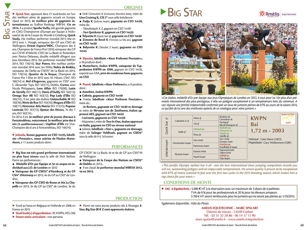 Double page étalons Guide ASEP 2015