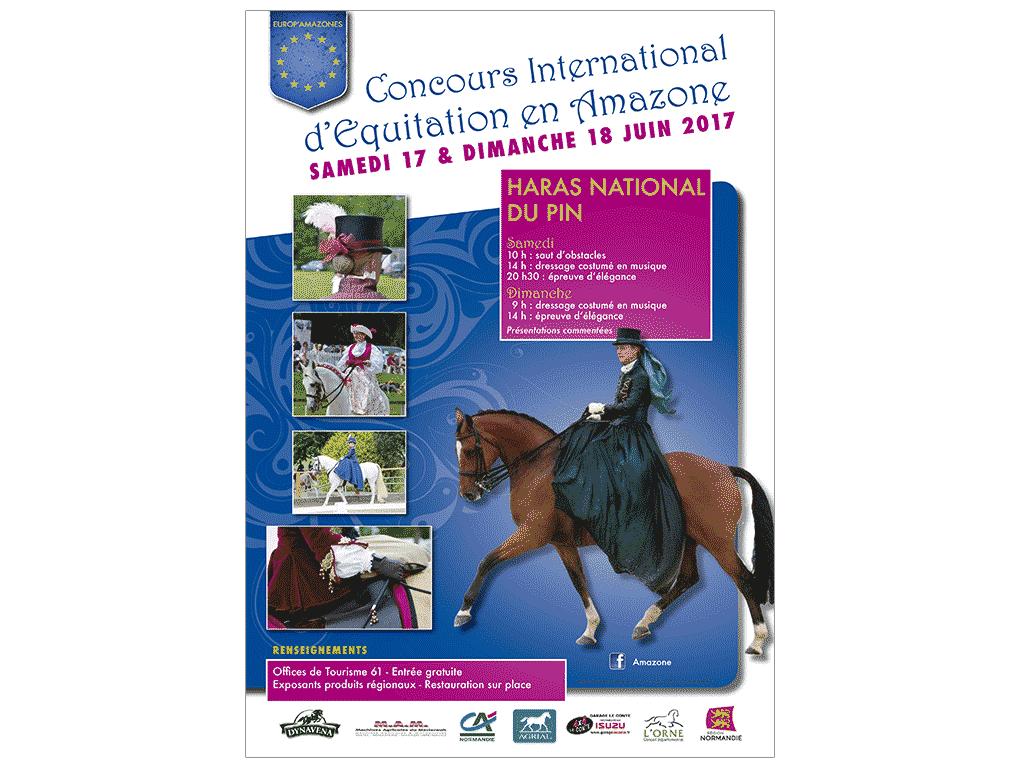 Affiche 2017 du concours d'équitation en amazone au Haras du Pin