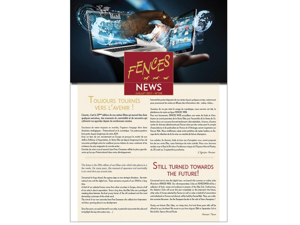 Edito Bulletin Fences News de ventes aux enchères - Juillet 2017