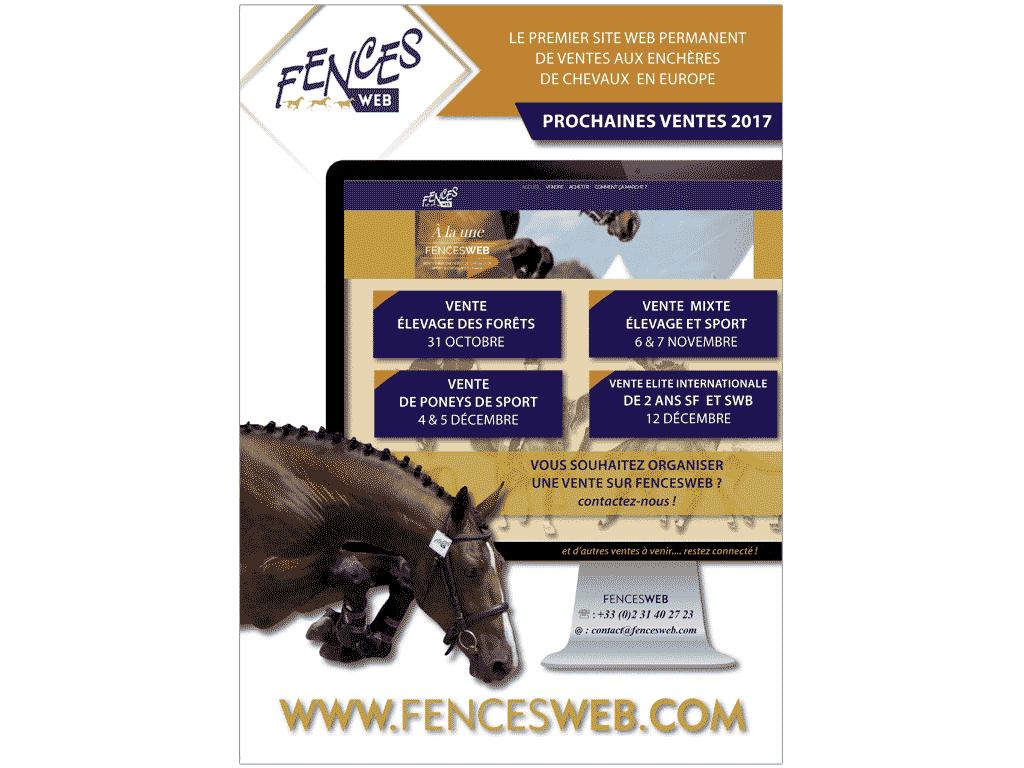 Publicité Fences Web pour magazine Selle Français