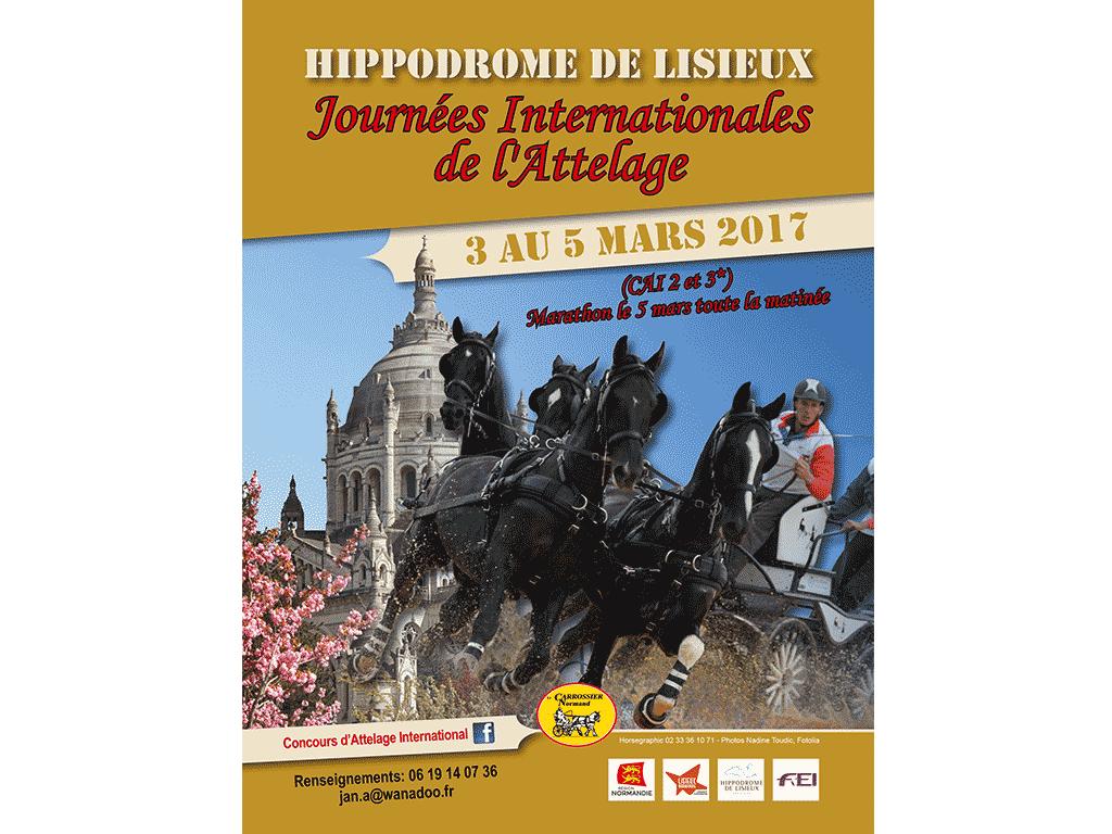 Flyer Journées internationales de l'attelage à Lisieux