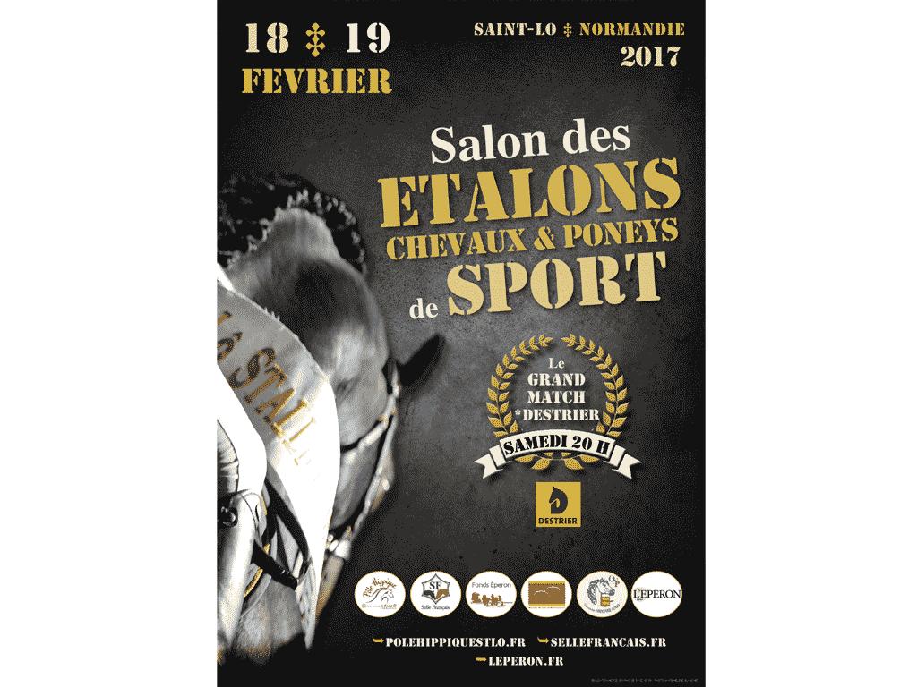 Affiche Salon des étalons sport Saint-Lô 2017