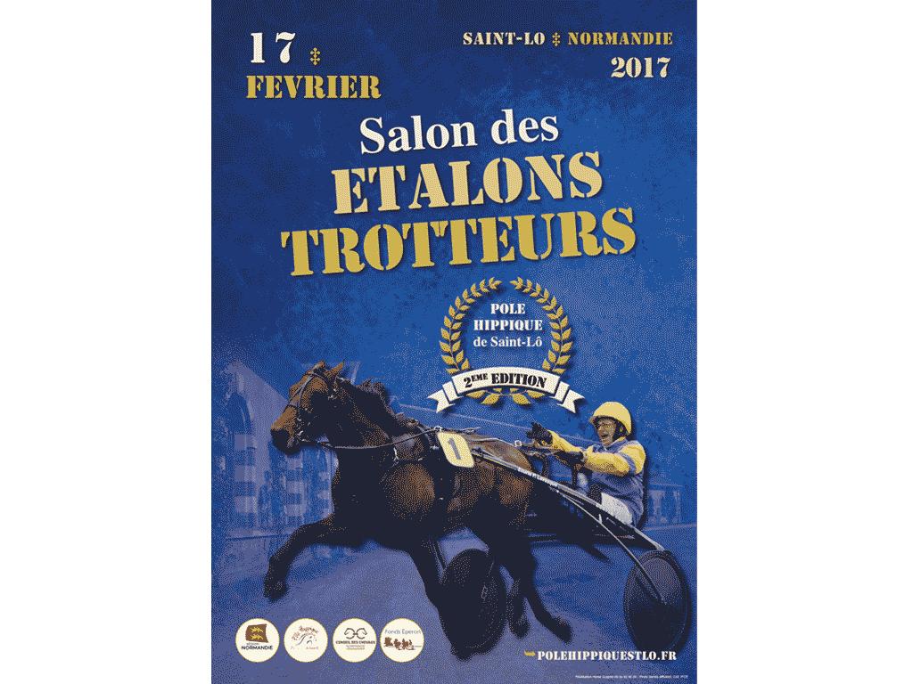 Affiche Salon des étalons trotteurs Saint-Lô 2017