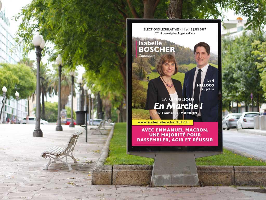 Affiche Isabelle Boscher Législatives 2017