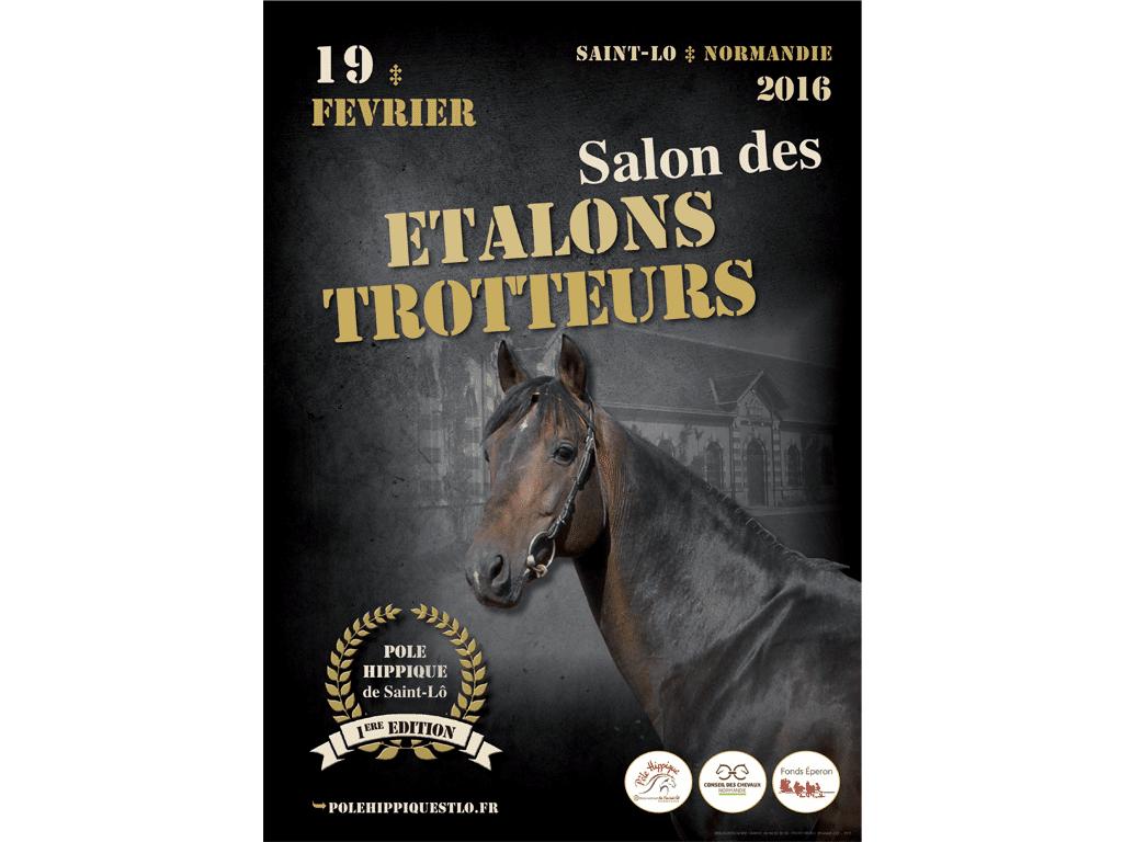 Affiche Salon des étalons trotteurs Saint-Lô 2016