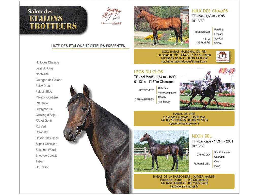 Catalogue Salon des étalons trot de Saint-Lô 2015