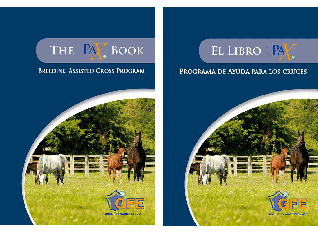 """Livre """"Conseil de croisement aux éleveurs de chevaux"""" en anglais et espagnol"""