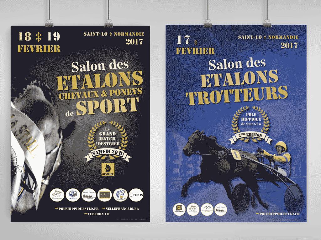 Affiches Salons des étalons Saint-Lô 2017
